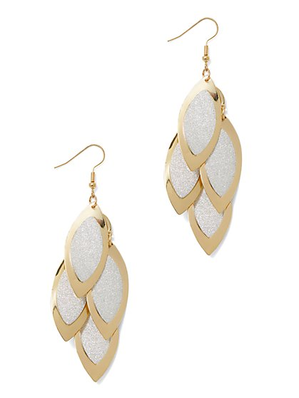 Gold Leaflet Statement Earring - New York & Company