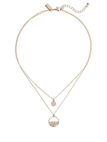 Golden Two-Chain Layer Necklace - New York & Company