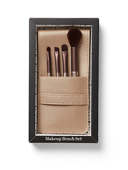 Goldtone 4-Piece Brush Set - New York & Company