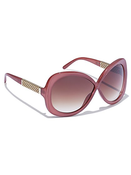 Goldtone-Accent Sunglasses - New York & Company