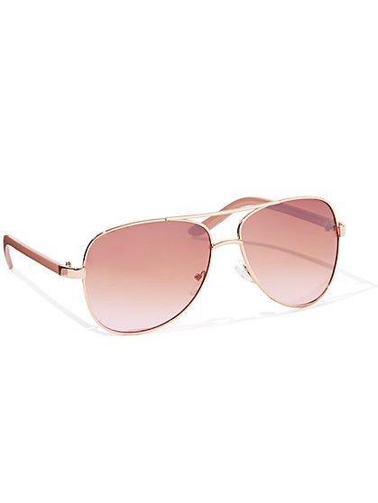31a0d4a9ff5 Goldtone Aviator Sunglasses - New York   Company ...