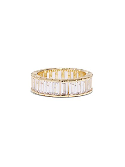 Goldtone Baguette Ring - New York & Company