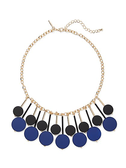 Goldtone Beaded Bib Statement Necklace - New York & Company