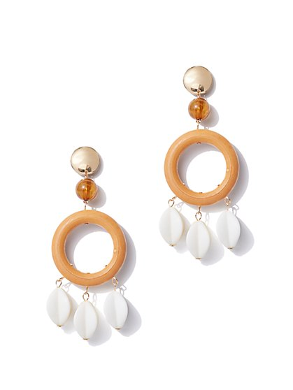 Goldtone Beaded Drop Earring - New York & Company