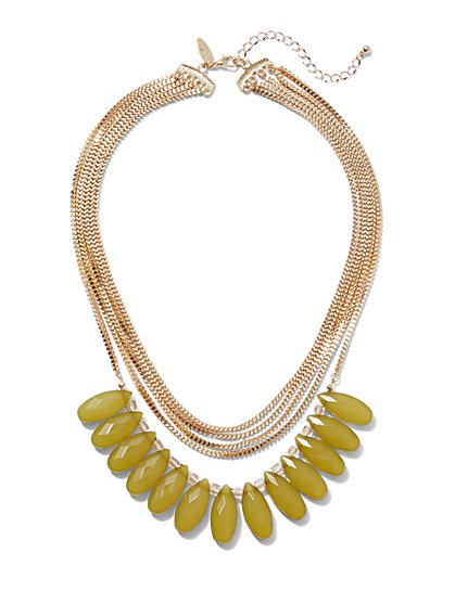 Goldtone Beaded Layered Necklace - New York & Company