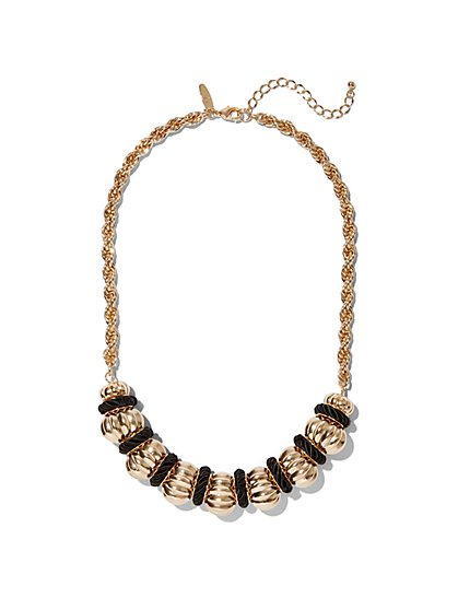 Goldtone Beaded Necklace - New York & Company