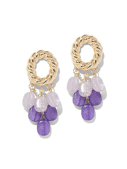Goldtone Beaded Statement Earring - New York & Company