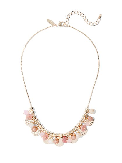 Goldtone Beaded Statement Necklace - New York & Company