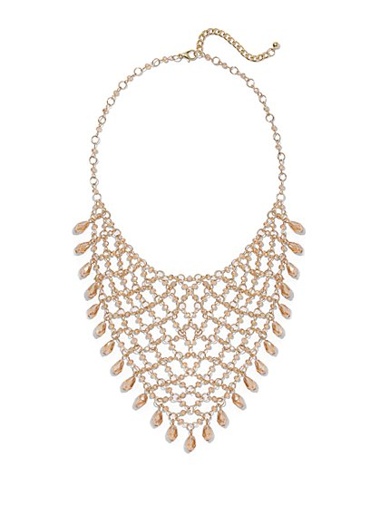 Goldtone Bib Statement Necklace - New York & Company