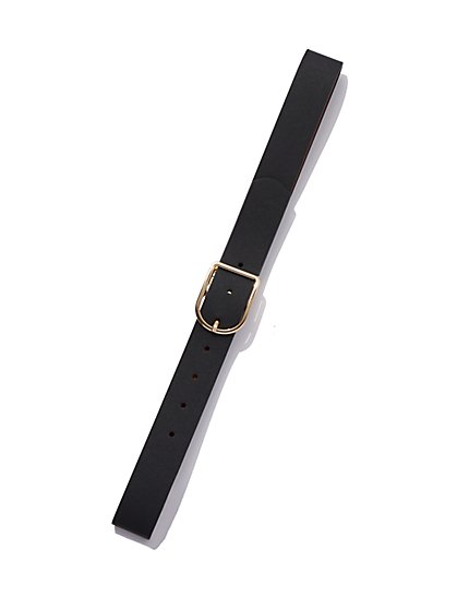 Goldtone Buckle Belt - New York & Company