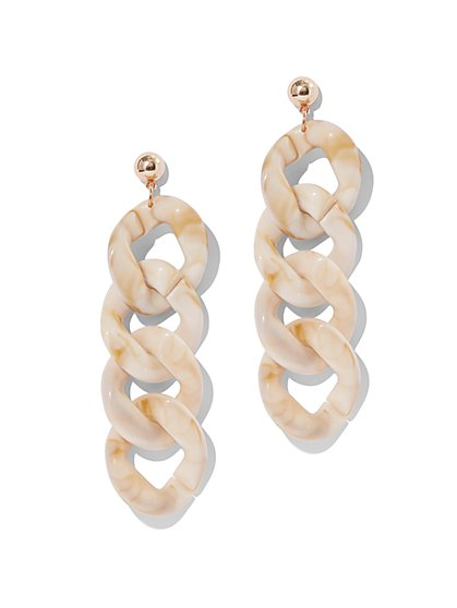 Goldtone Chain-Link Drop Earring - New York & Company