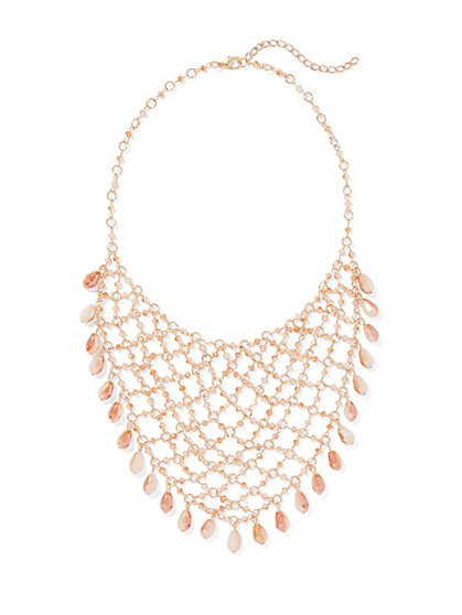 Goldtone Chain-Link Statement Necklace - New York & Company