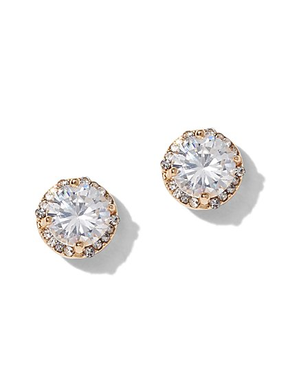 Goldtone Cubic Zirconia Post Earring - New York & Company