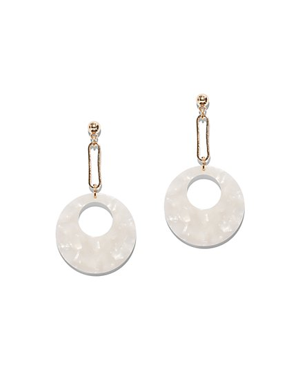 Goldtone Disk Drop Earring - New York & Company