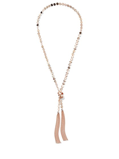 Goldtone Double-Tassel Pendant Necklace - New York & Company