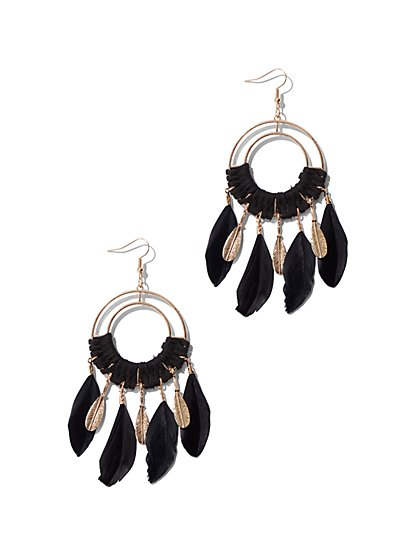 Goldtone Dream Catcher Drop Earring - New York & Company