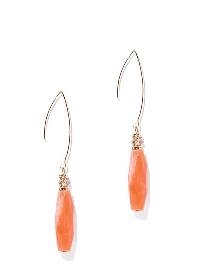 Goldtone Faux-Coral Drop Earring - New York   Company 9c2332c04a90