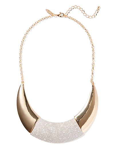 Goldtone Faux-Druzy Statement Necklace - New York & Company