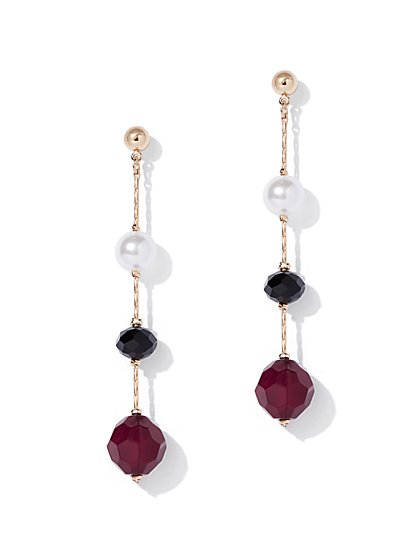 Goldtone Faux-Pearl Beaded Drop Earring - New York & Company