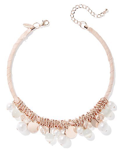 Goldtone Faux-Pearl Collar Necklace - New York & Company