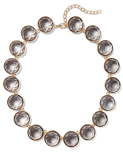 Goldtone Faux-Stone Collar Necklace - New York & Company