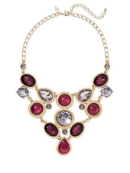 Goldtone Faux-Stone Statement Necklace - New York & Company
