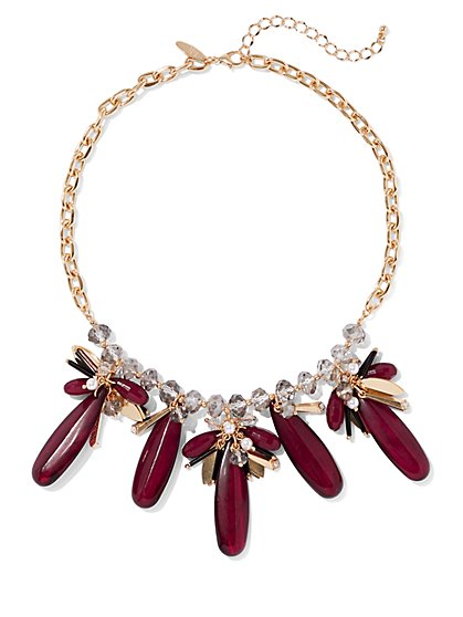 Goldtone & Faux-Stone Statement Necklace - New York & Company