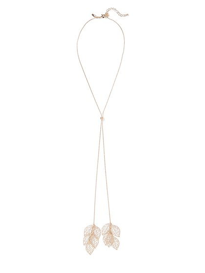 82652c2e8 Goldtone Filigree-Accent Y-Shaped Necklace - New York & Company