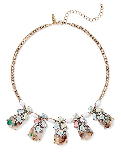 Goldtone Floral Collar Necklace - New York & Company