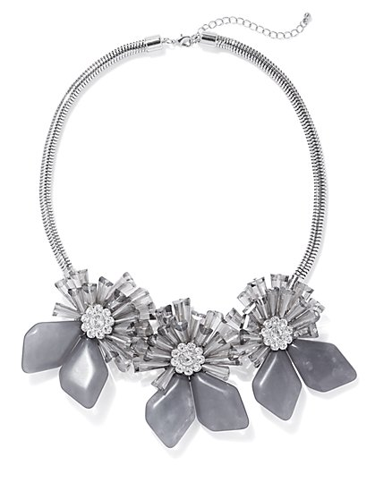 Goldtone Floral Statement Necklace - New York & Company