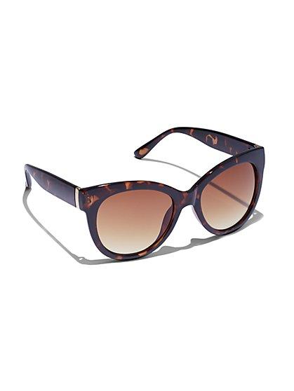 a73549d7b870 Goldtone-Hardware Faux-Tortoise Sunglasses - New York & Company ...