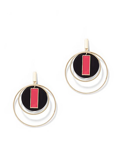 Goldtone Hoop Drop Earring - New York & Company