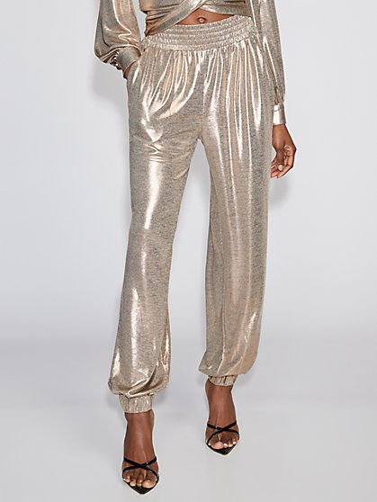 Goldtone Jogger Pant - Gabrielle Union Collection - New York & Company