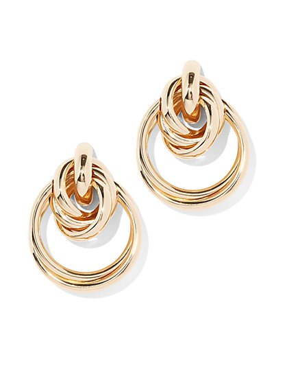 Goldtone Knot Drop Earring - New York & Company