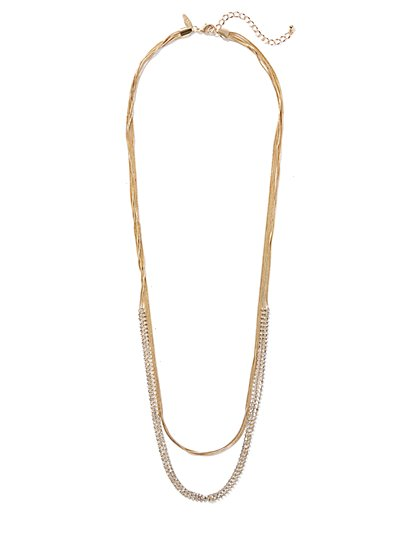 Goldtone Layered Link Necklace - New York & Company