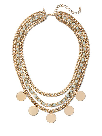 Goldtone Layered Necklace - New York & Company