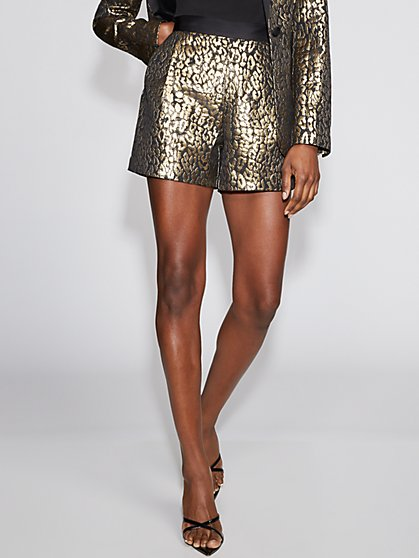 Goldtone Leopard-Print Short - Gabrielle Union Collection - New York & Company