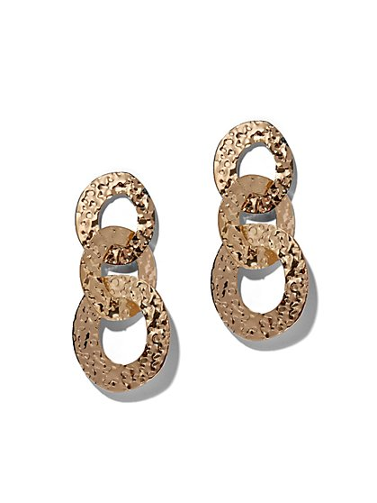 Goldtone Link Drop Earring - New York & Company