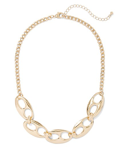 Goldtone Link Necklace - New York & Company