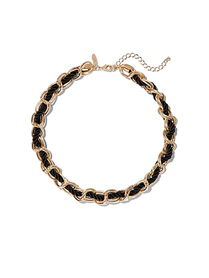 Goldtone Link Rope Collar Necklace - New York & Company
