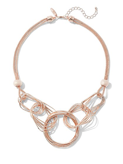Goldtone Link Statement Necklace - New York & Company