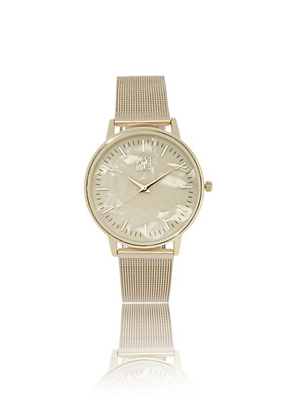 daac13449c1 Goldtone Matte Mesh Watch - New York   Company ...