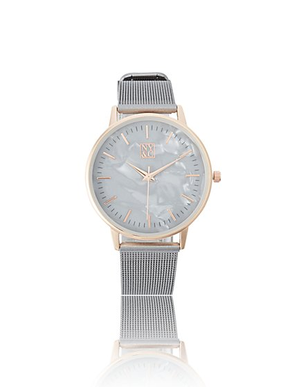 Goldtone Matte Mesh Watch - New York & Company