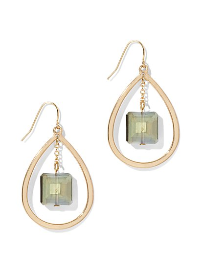 Goldtone Oval Drop Earring - New York & Company