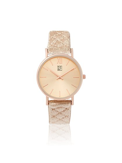 Goldtone Quilted Strap Watch - New York & Company