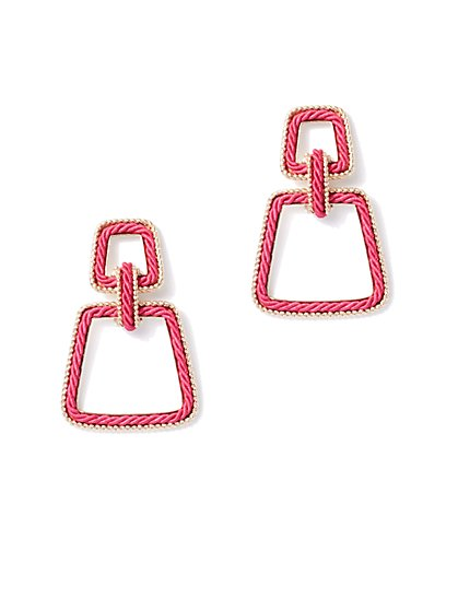 Goldtone Rope Drop Earring - New York & Company