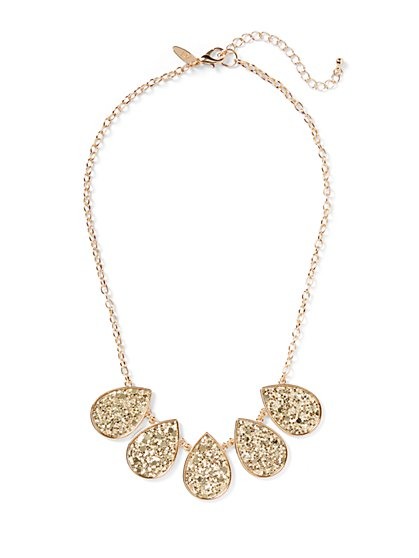 Goldtone Sequin Statement Necklace - New York & Company