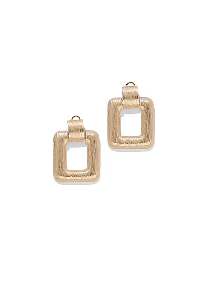 Goldtone Square Hoop Drop Earring - New York & Company