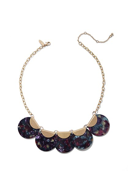 Goldtone Statement Collar Necklace - New York & Company