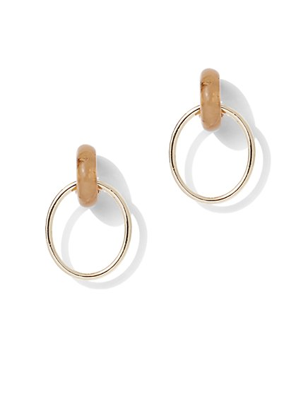 Goldtone Statement Hoop Earring - New York & Company